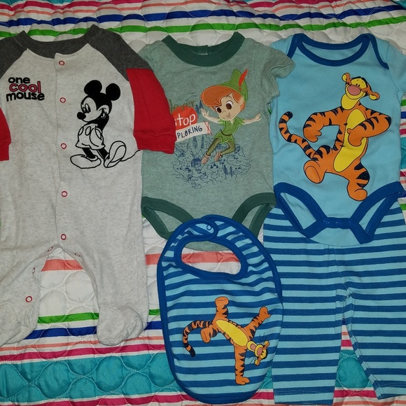 65b8201fa Disney One Pieces | Baby Boy 03 Month Lot | Poshmark